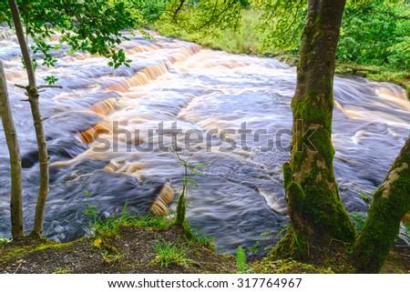 Peat River, Northern Ireland - stock photo