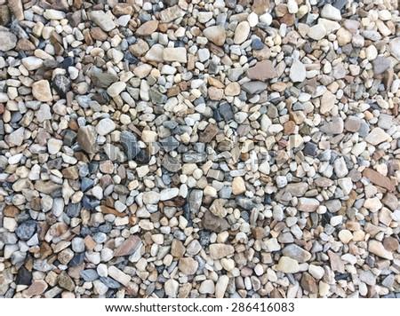 pebble stone background - stock photo