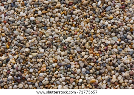 Pebble stone background - stock photo