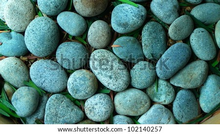 Pebble Stones, Close-up, SPA concept - stock photo