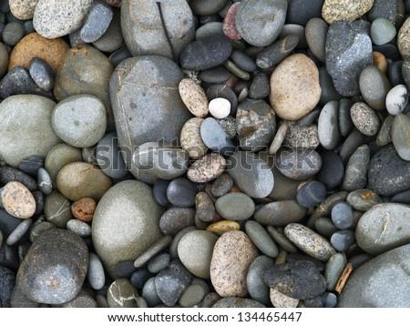 Pebbles, Granity beach, New Zealand - stock photo