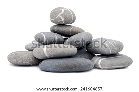 pebbles isolated on white background - stock photo