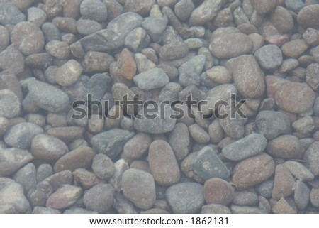 Pebbles under Water - stock photo
