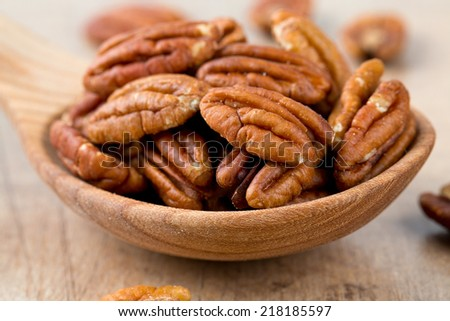 pecan nuts - stock photo
