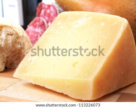 pecorino toscano cheese - stock photo