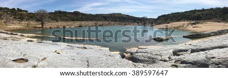 Pedernales Falls State Park in Texas - stock photo