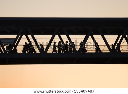 Pedestrian bridge - stock photo