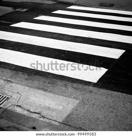 Pedestrian Lane in the city of Trieste - stock photo