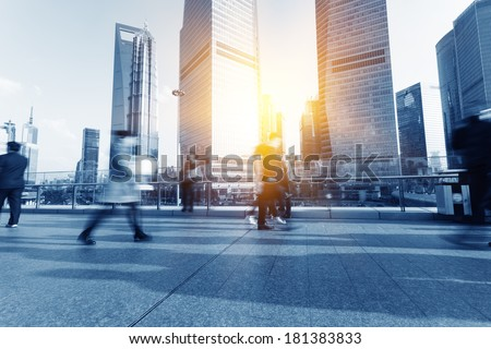 Pedestrian Shanghai city - stock photo
