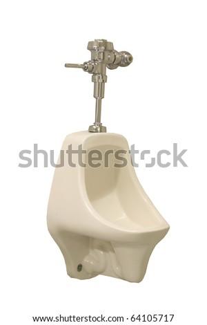 pee stalls isolated on white - stock photo