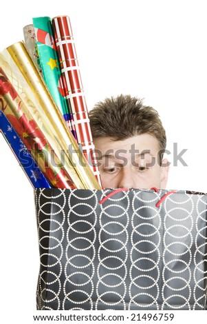 Peeking in - stock photo