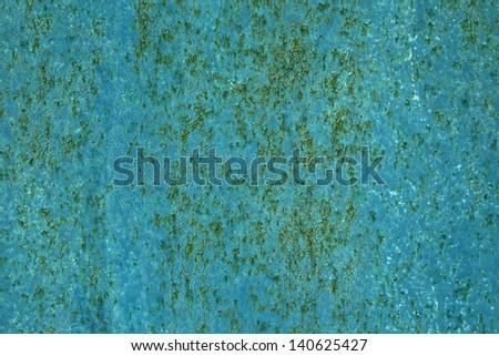 Peeling paint on wall background - stock photo