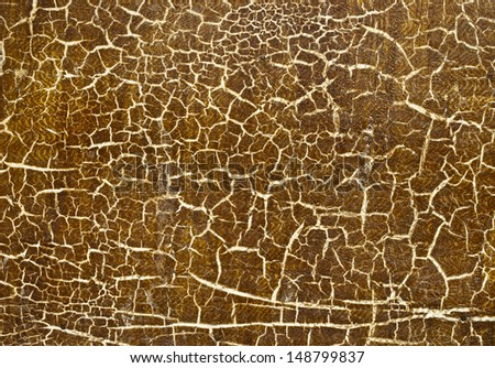 Peeling paint on wall Pattern of rustic brown grunge material. - stock photo