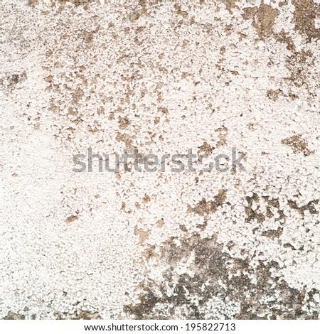 Peeling paint on white wall texture - stock photo
