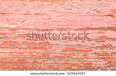 Peeling paint on wooden textured background - stock photo
