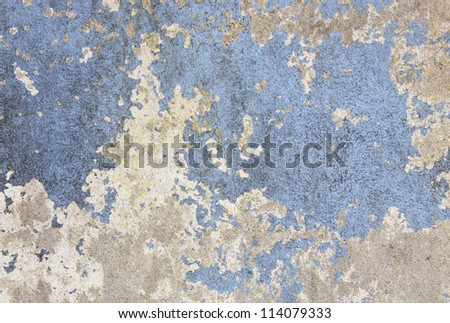 Peeling paint texture in abandoned home. - stock photo