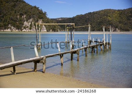 Peer at Abel Tasman - stock photo