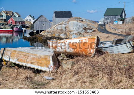 Peggy's Cove, Nova Scotia, Canada - stock photo