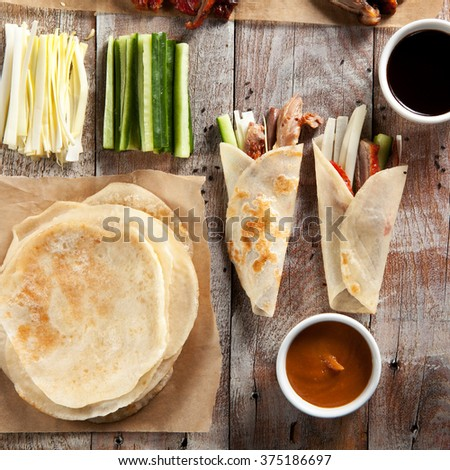 Peking Duck on Parchment  - stock photo