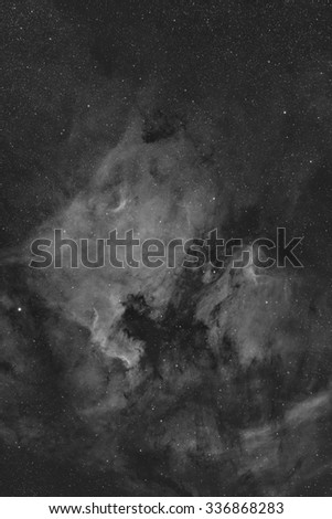 Pelican and North American Nebula in Hydrogen Alpha - stock photo