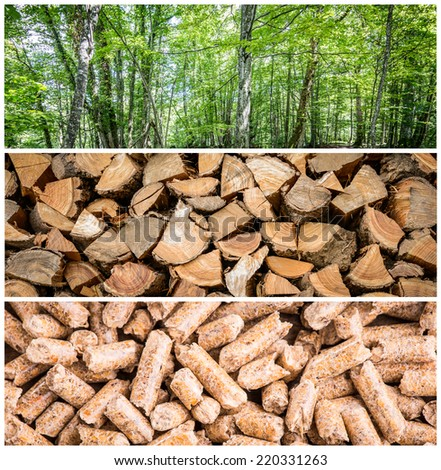 pellet production - stock photo