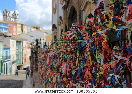 Pelourinho, Bah�­a, Brazil - stock photo