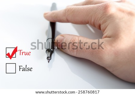 Pen in the hand isolated over white background - stock photo