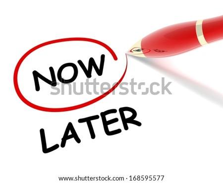 pen select - now - stock photo