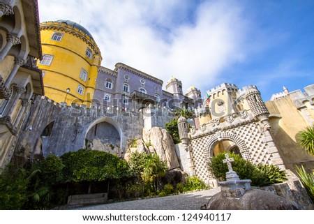 Pena National Palace in Sintra, Portugal (Palacio Nacional da Pena) - stock photo