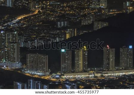 Penang night view 3 - stock photo