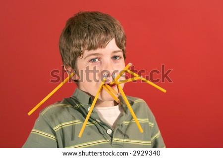 pencil boy - stock photo