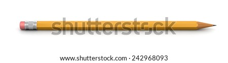 Pencil (clipping path included) - stock photo