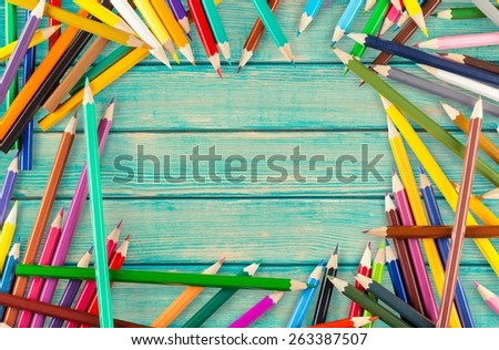 Pencil. Colour pencils isolated on white background. Back to school concept. - stock photo