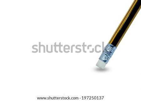 Pencil for writing and eraser - stock photo
