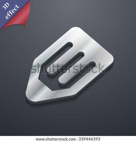 pencil icon symbol. 3D style. Trendy, modern design with space for your text illustration. Rastrized copy - stock photo