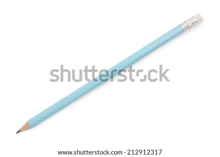 pencil isolated on pure on white background,  file includes a excellent clipping path - stock photo