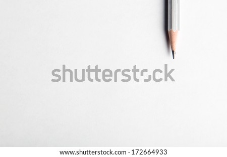 pencil on table, the blogger instrument - stock photo
