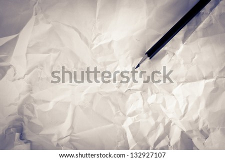 Pencil on the paper. - stock photo