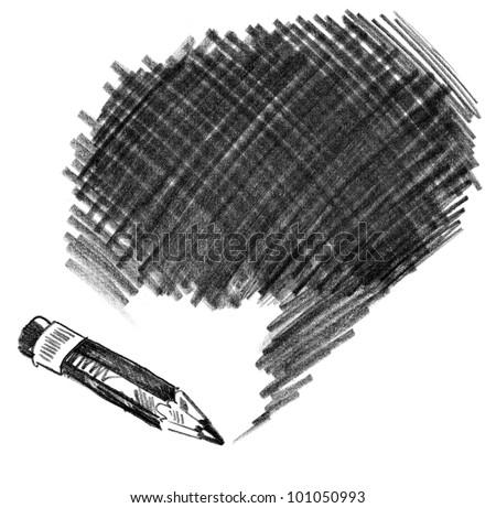 Pencil shading. Hand-drawn. Doodle - stock photo