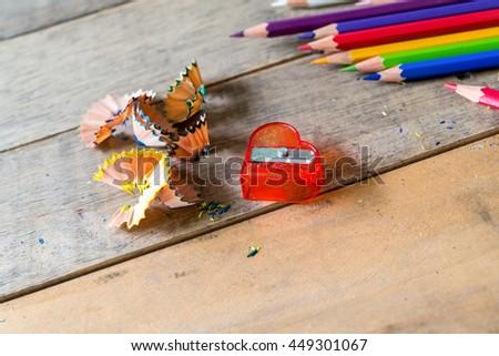 pencil sharpener - stock photo