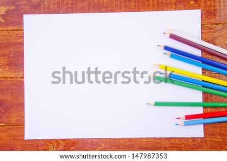 pencils and paper - stock photo