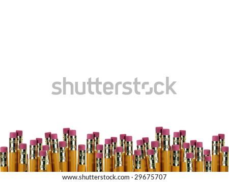 Pencils Boarder - stock photo