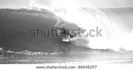 PENICHE, PORTUGAL - OCTOBER 17 : Kelly Slater (USA) in Rip Curl Pro 2011, October 17, 2011 in Peniche, Portugal - stock photo