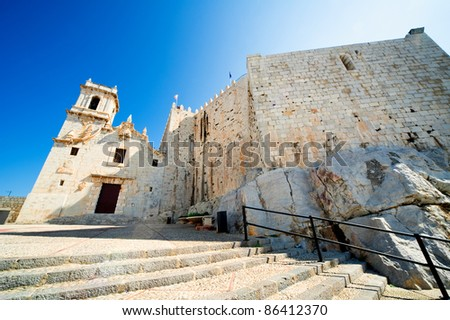 Peniscola castle. Valencia, Spain - stock photo