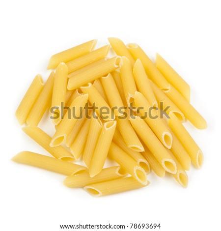 penne, italian pasta - stock photo