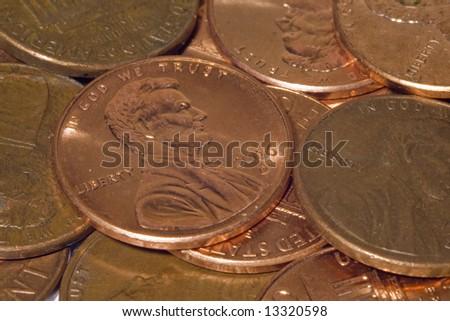 pennies - stock photo