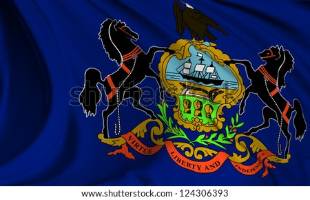 Pennsylvania flag - USA state flags collection no_3 - stock photo