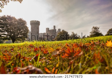 Penrhyn Castle in Wales, United Kingdom, series of Walesh castles - stock photo