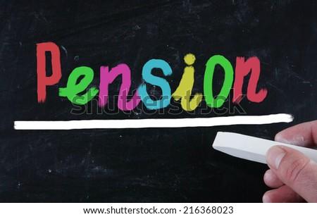 pension concept - stock photo