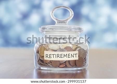 pension savings - stock photo